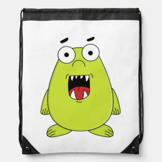 Cute green monster backpacks