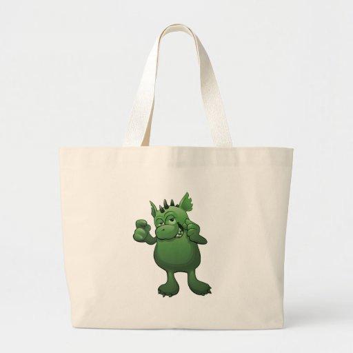 cute green monster bags