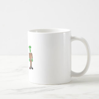 Cute Green Monster Cartoon Coffee Mug