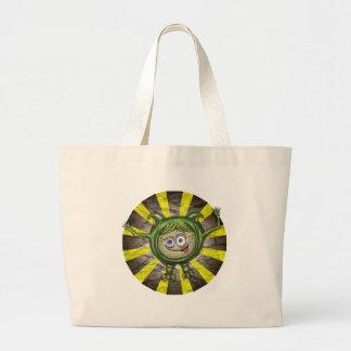 Cute Green Monster Jumbo Tote Bag