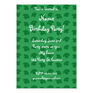 Cute green mushroom pattern 13 cm x 18 cm invitation card