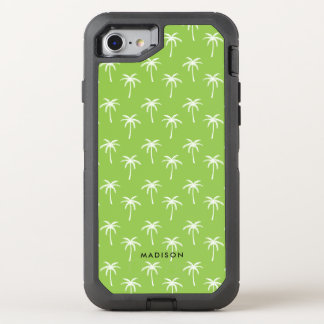 Cute Green Palm Trees OtterBox Defender iPhone 8/7 Case