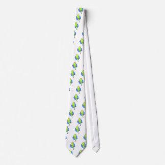 Cute Green Parakeet Tie