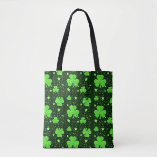 Cute Green Shamrock Stars Irish St. Patrick's Day Tote Bag