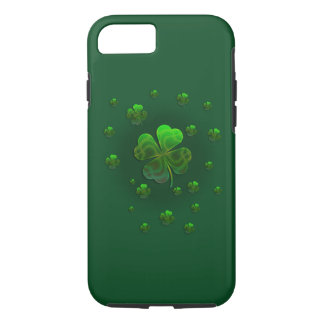 Cute Green Shamrocks   Celebrate iPhone 8/7 Case