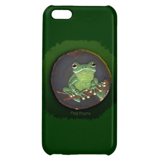 Cute Green Tree Frog Animal-lovers Gift Case For iPhone 5C