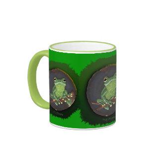 Cute Green Tree Frog Animal-lovers Gift Ringer Mug