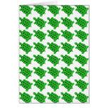 Cute Green Turtle Art Blank Greeting Card Gift