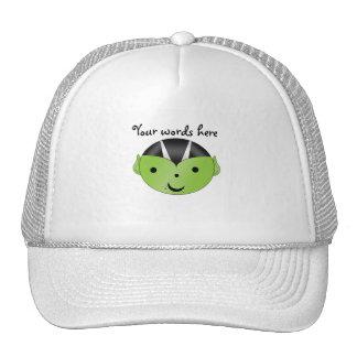 Cute green vampire trucker hat