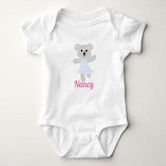 Cute Grey Baby Koala Bear baby shower Baby Bodysuit