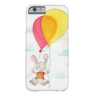 Cute Grey Bunny Watercolour Artwork Barely There iPhone 6 Case