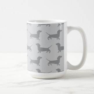 Cute Grey dachshund Dog Pattern Mug