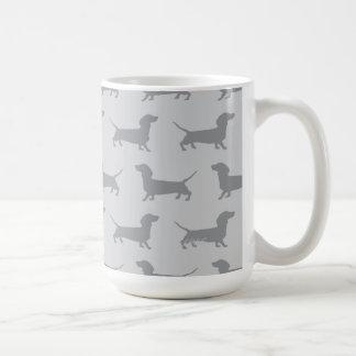 Cute Grey dachshund Dog Pattern Mug