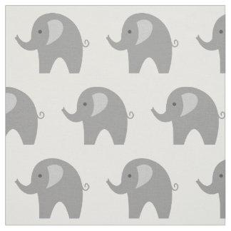 Cute grey elephant pattern fabric DIY textile