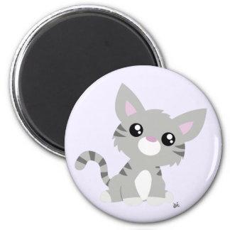 Cute Grey Kitty Magnet
