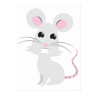 Cute Grey Mouse Postcard