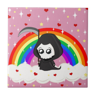 Cute Grim Reaper Ceramic Tile