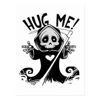 Cute Grim Reaper Hug Me Postcard