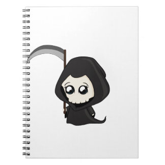 Cute Grim Reaper Notebooks