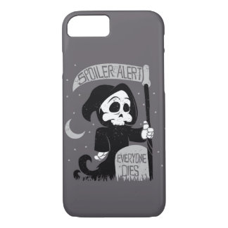 Cute grim reaper with scythe iPhone 7 case