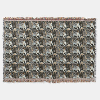 Cute Ground Squirrel Throw Blanket