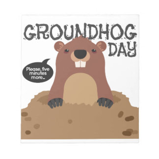 Cute groundhog day cartoon illustration notepads