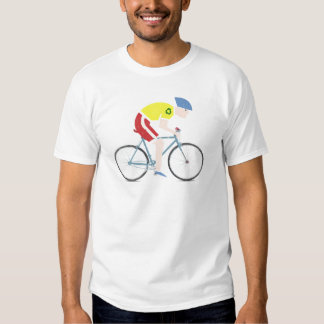 Cute grunge cartoon bike rider shirt