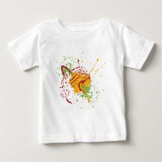 Cute Grunge Cat Portrait 2 Baby T-Shirt