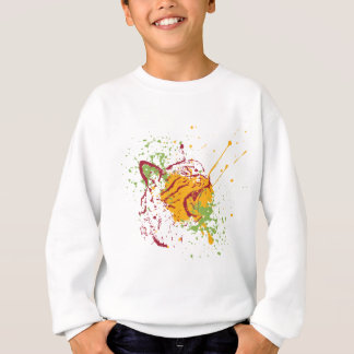 Cute Grunge Cat Portrait 2 Sweatshirt