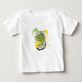 Cute Grunge Cat Portrait Baby T-Shirt