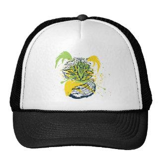 Cute Grunge Cat Portrait Cap