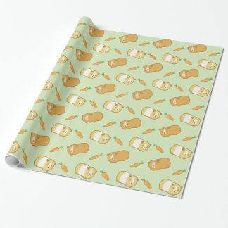 Cute Guinea Pig and Carrots Wrapping Paper