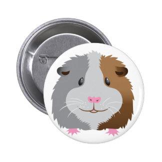 cute guinea pig face 6 cm round badge