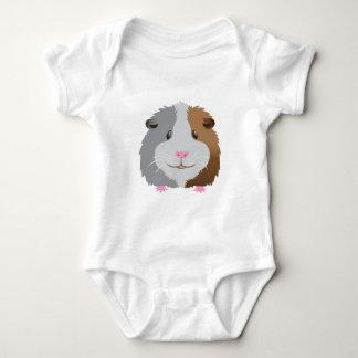 cute guinea pig face baby bodysuit