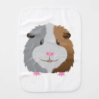 cute guinea pig face burp cloth