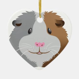 cute guinea pig face ceramic ornament