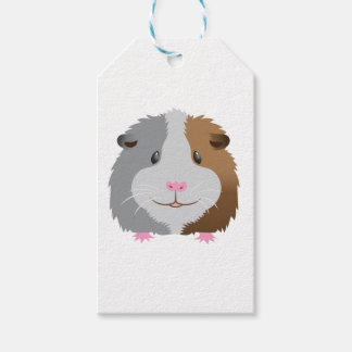 cute guinea pig face gift tags