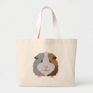 cute guinea pig face large tote bag