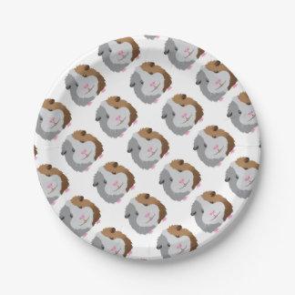 cute guinea pig face paper plate