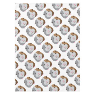 cute guinea pig face tablecloth