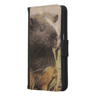 cute Guinea pig Samsung Galaxy S6 Wallet Case