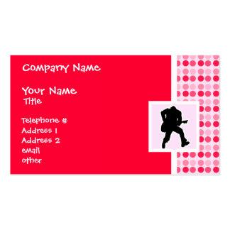 Cute Guitarist Business Cards