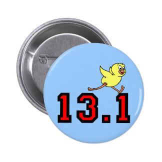 Cute half marathon 6 cm round badge