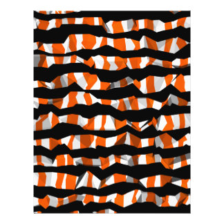 Cute Halloween abstract striped pattern 21.5 Cm X 28 Cm Flyer