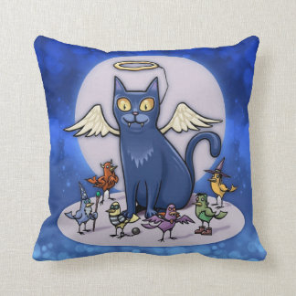 Cute Halloween Angel Costume Cat Pillow
