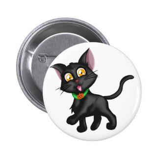 Cute Halloween Cat 6 Cm Round Badge