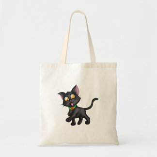 Cute Halloween Cat Budget Tote Bag