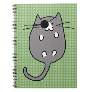 Cute Halloween Cat Costume Spiral Note Book
