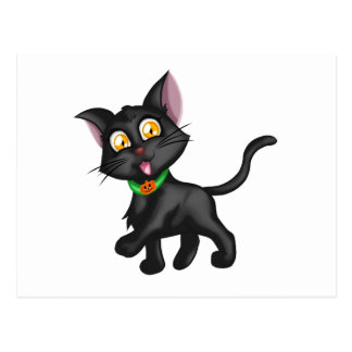 Cute Halloween Cat Postcard