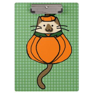 Cute Halloween Cat Pumpkin Costume Clipboards
